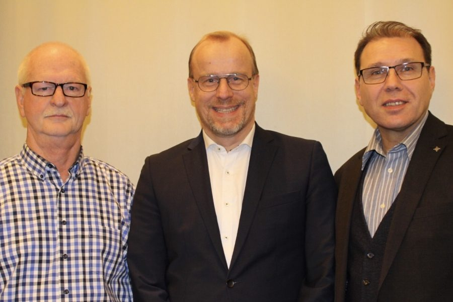 v.l.: Georg Küster, Axel Bertrand, Sinan Sert